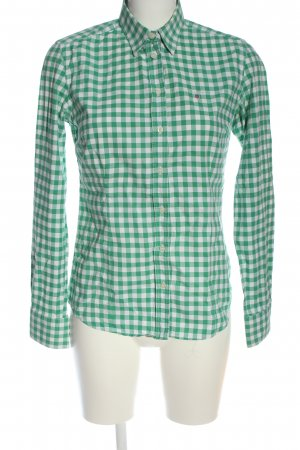 Gant Holzfällerhemd grün-weiß Allover-Druck Casual-Look