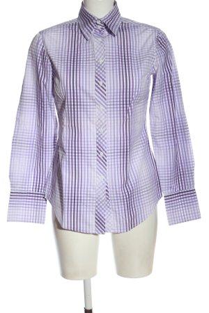 Gant Holzfällerhemd lila-weiß Allover-Druck Business-Look