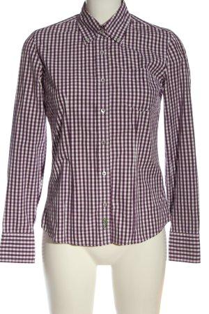 Gant Holzfällerhemd weiß-lila Karomuster Casual-Look