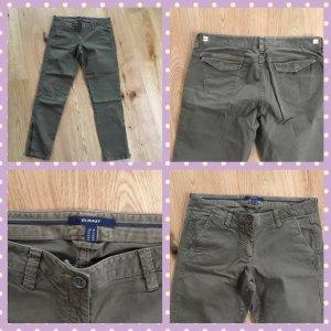 Gant Cargo Pants green grey-khaki cotton