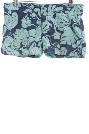 Gant Hot Pants hellblau-dunkelblau abstraktes Muster Casual-Look