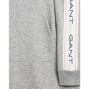 Gant Sukienka z kapturem jasnoszary Tkanina z mieszanych włókien