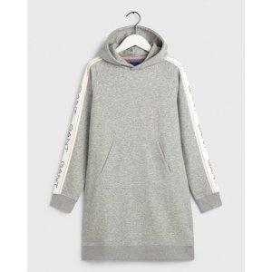 Gant Robe à capuche gris clair tissu mixte