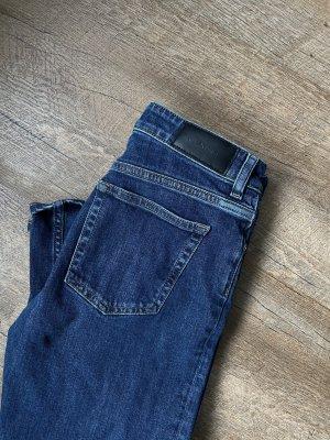 Gant Jeans a gamba dritta blu scuro Cotone