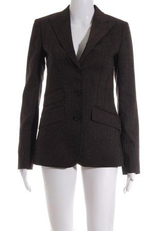 Gant Jersey blazer grijs-bruin gestreept patroon zakelijke stijl