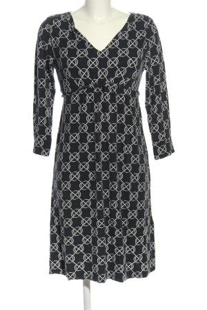 Gant Jerseykleid schwarz-weiß Allover-Druck Casual-Look