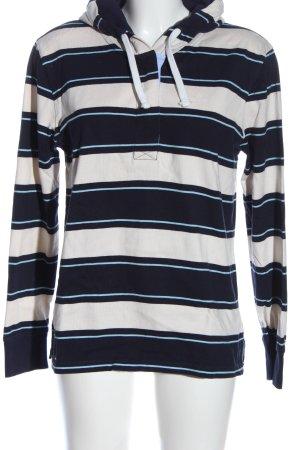 Gant Kapuzenpullover weiß-blau Streifenmuster Casual-Look