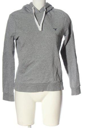Gant Sweat à capuche gris clair moucheté style décontracté