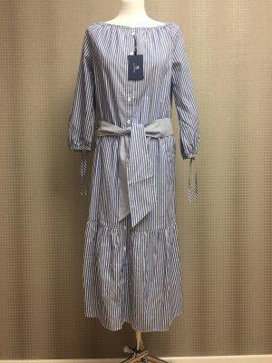 Gant Robe chemise bleuet-blanc coton