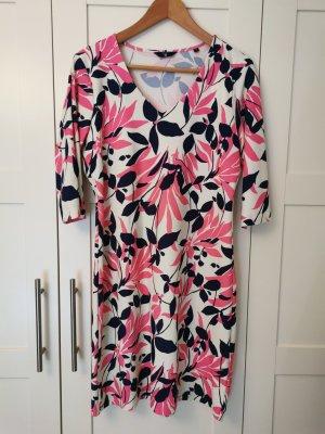 GANT Kleid pink blau Blätter M NEUw