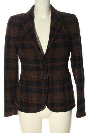 Gant Korte blazer bruin-zwart volledige print elegant