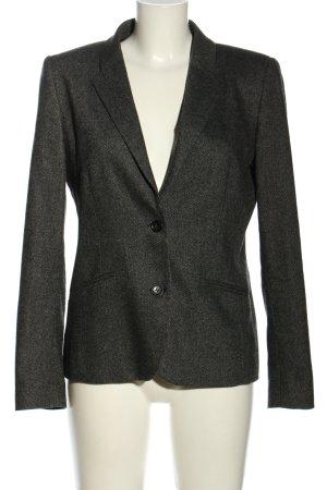 Gant Korte blazer zwart gestippeld zakelijke stijl