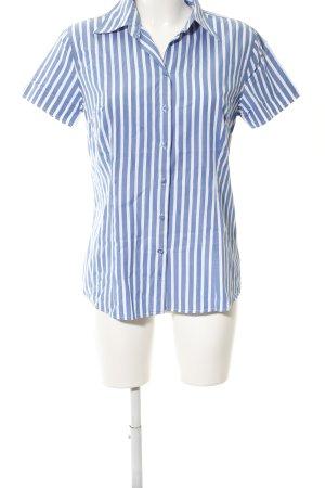 Gant Kurzarm-Bluse blau-weiß Streifenmuster Business-Look