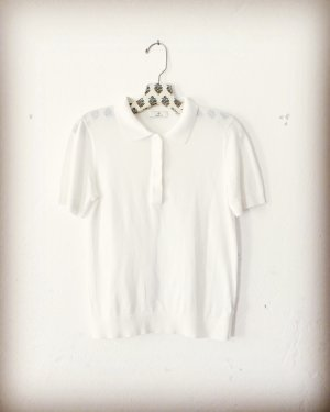 Gant • kurzarm pulli • feinstrick • creme weiss