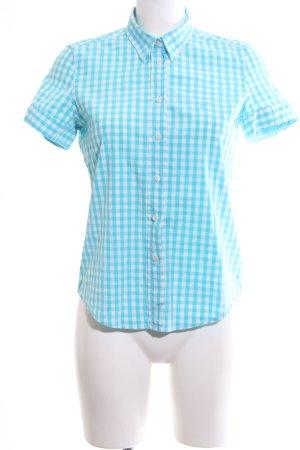 Gant Kurzarmhemd blau-weiß Allover-Druck Business-Look