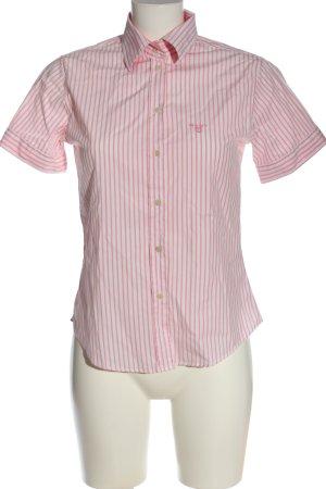 Gant Camicia a maniche corte rosa-bianco motivo a righe stile professionale
