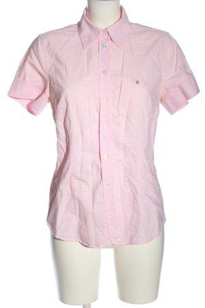 Gant Camicia a maniche corte rosa-bianco motivo a quadri stile casual