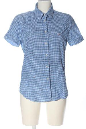 Gant Kurzarmhemd weiß-blau Allover-Druck Casual-Look