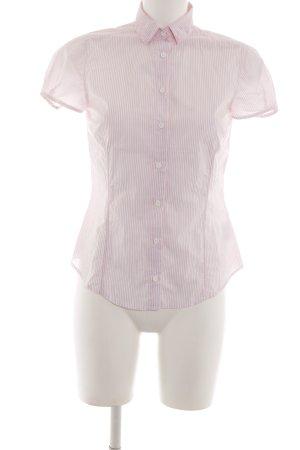 Gant Kurzarmhemd pink-weiß Streifenmuster Business-Look