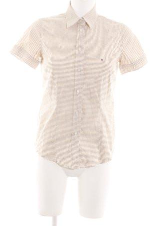 Gant Kurzarmhemd wollweiß-weiß Karomuster Casual-Look