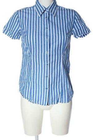 Gant Kurzarmhemd blau-weiß Streifenmuster Business-Look