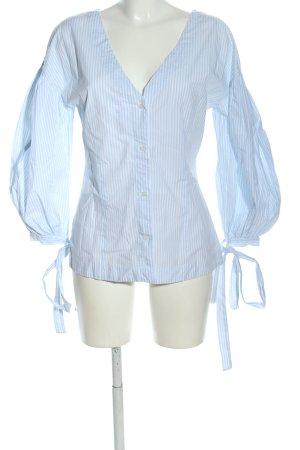 Gant Langarm-Bluse blau-weiß Streifenmuster Business-Look