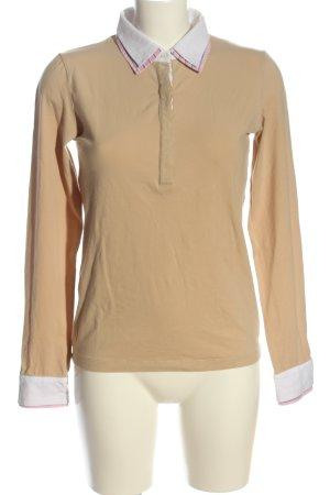 Gant Langarm-Bluse nude-weiß Casual-Look