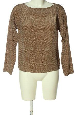 Gant Langarm-Bluse abstraktes Muster Casual-Look