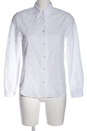 Gant Langarm-Bluse weiß Blumenmuster Business-Look