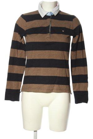 Gant Langarm-Bluse braun-schwarz meliert Casual-Look