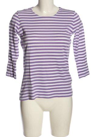 Gant Langarm-Bluse lila-wollweiß Streifenmuster Casual-Look