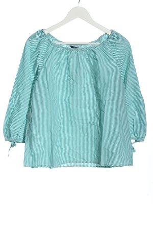 Gant Langarm-Bluse türkis-weiß Streifenmuster Casual-Look