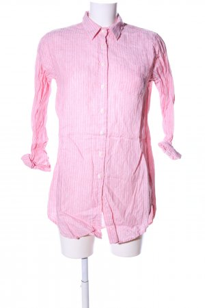 Gant Langarm-Bluse pink-weiß Streifenmuster Casual-Look