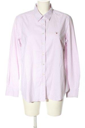 Gant Langarm-Bluse pink-weiß Motivdruck Business-Look