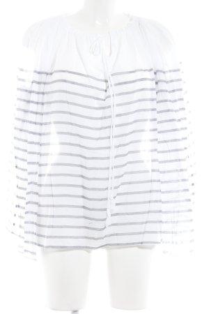 Gant Langarm-Bluse weiß-dunkelblau Streifenmuster Casual-Look