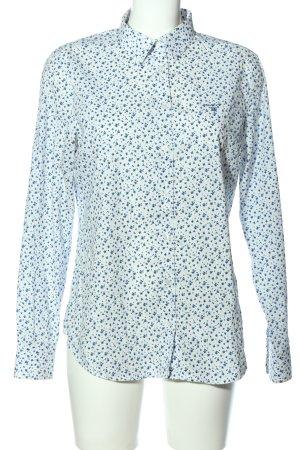 Gant Langarmhemd blau-weiß Allover-Druck Casual-Look