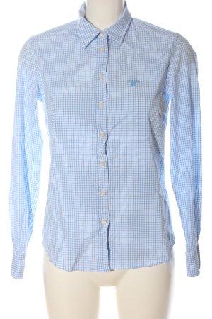 Gant Camicia a maniche lunghe bianco-blu motivo a quadri stile casual