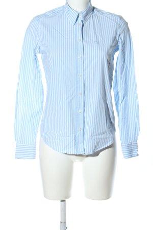 Gant Langarmhemd weiß-blau Schriftzug gestickt Business-Look