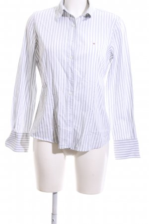 Gant Langarmhemd weiß-hellgrau Streifenmuster Business-Look
