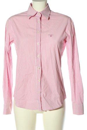 Gant Langarmhemd pink-weiß Allover-Druck Business-Look