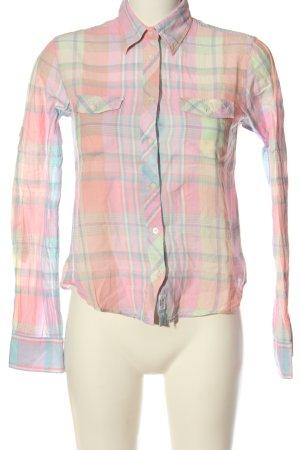 Gant Langarmhemd pink-blau Allover-Druck Casual-Look