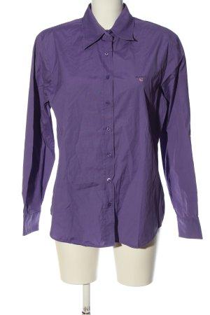 Gant Langarmhemd lila Motivdruck Casual-Look