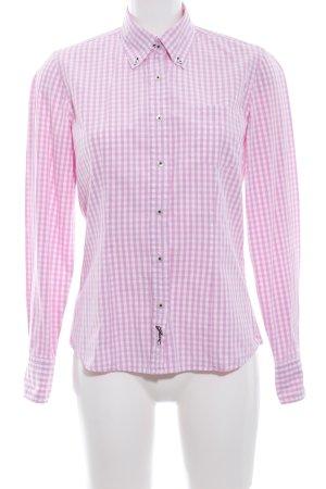 Gant Langarmhemd weiß-pink Karomuster Business-Look
