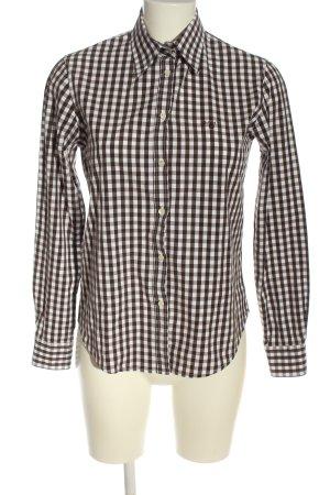 Gant Langarmhemd weiß-braun Allover-Druck Business-Look