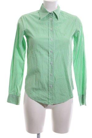 Gant Langarmhemd weiß-grün Karomuster Casual-Look