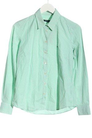 Gant Langarmhemd grün-weiß Allover-Druck Business-Look