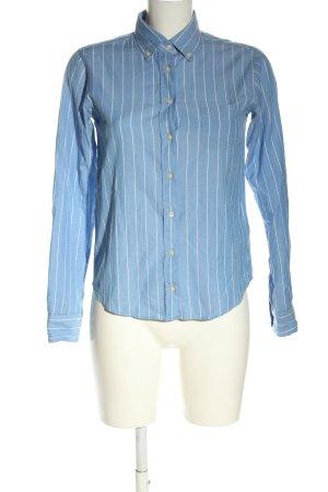 Gant Langarmhemd blau-wollweiß Streifenmuster Business-Look