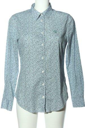 Gant Langarmhemd türkis-blau Allover-Druck Casual-Look