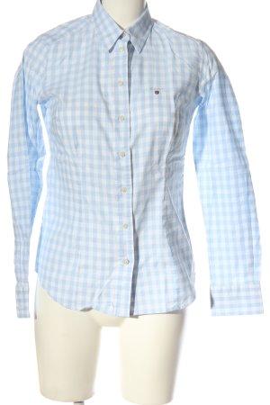 Gant Langarmhemd türkis-weiß Karomuster Casual-Look