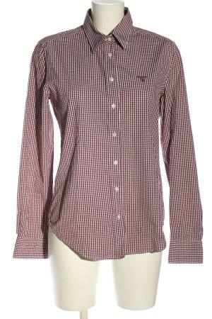 Gant Langarmhemd rot-weiß Karomuster Casual-Look
